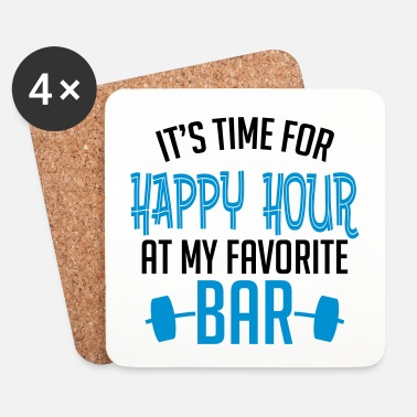Health it's time for happy hour at my favorite bar B 2c - Onderzetters (4 stuks)