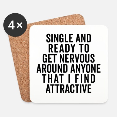 Single Single And Nervous Funny Quote - Dessous de verre (lot de 4)