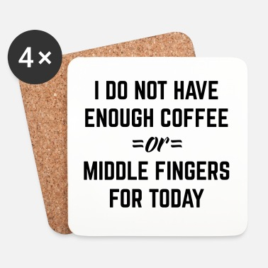 Rude Coffee & Middle Fingers Funny Quote - Underlägg (4-pack)
