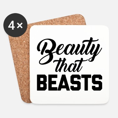 Training Beauty That Beasts Gym Quote - Sottobicchieri (set da 4 pezzi)