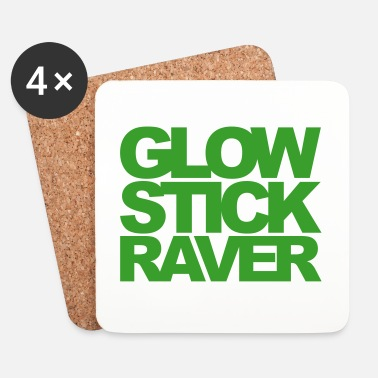 Raver Glow Stick Raver 2 Rave Quote - Dessous de verre (lot de 4)