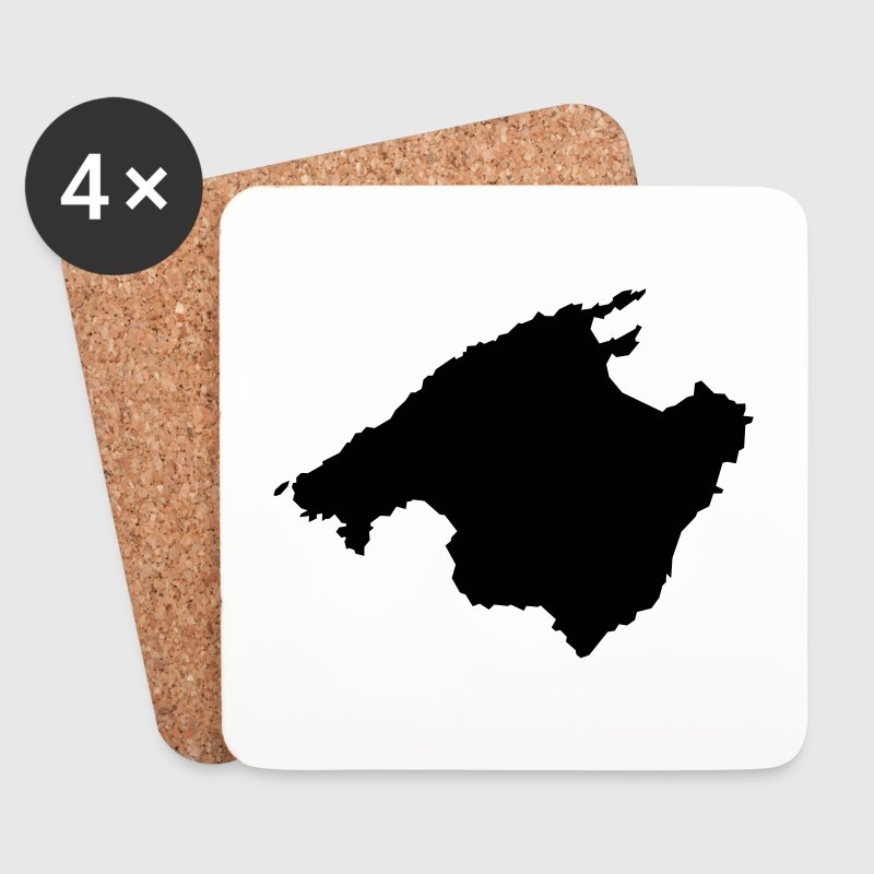Majorca / Mallorca (Profile / Silhouette) - Coasters (set of 4)