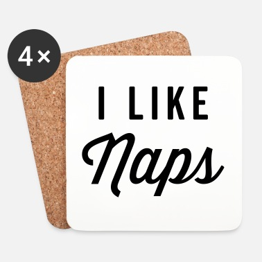 Chiller I Like Naps Funny Quote - Dessous de verre (lot de 4)
