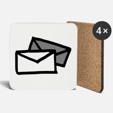 Grey Two letters / envelopes - Coasters