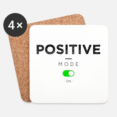 Geek Positive mode on - Posavasos (juego de 4)