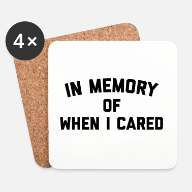 Rude Memory When Cared Funny Quote - Underlägg (4-pack)