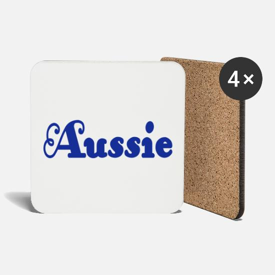 Australia Mugs & Drinkware - ❤✦Love Aussie-Aussies are Awesome and Best✦❤ - Coasters white