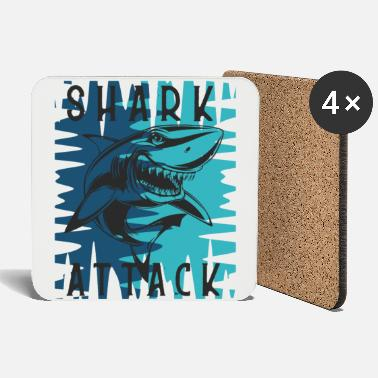 Attack Shark Attack - Coasters
