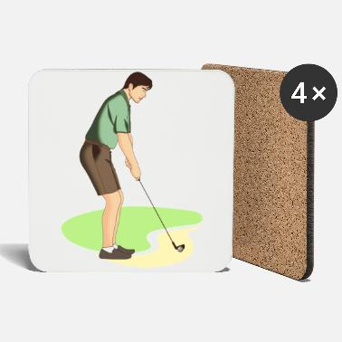 Golf Shoes Golf | Golfing | Golfer | golf - Coasters