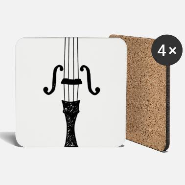 Grade School Violin violin violin player cello - Coasters
