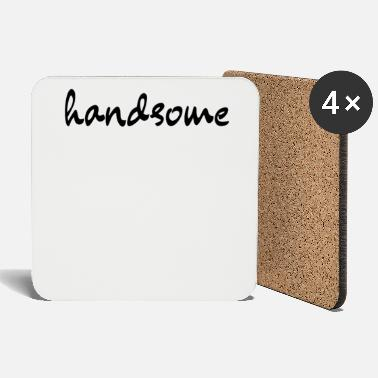 Naughty Handsome Black Handwritten Font - Coasters