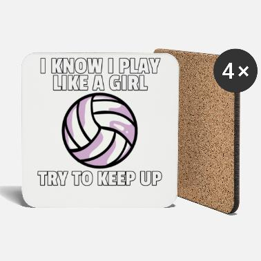 Volleyball Player Volleyball volleyball player volleyball player gift - Coasters