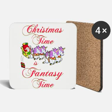 Christmas Time CHRISTMAS TIME IS THE FANTASTIC TIME - Coasters