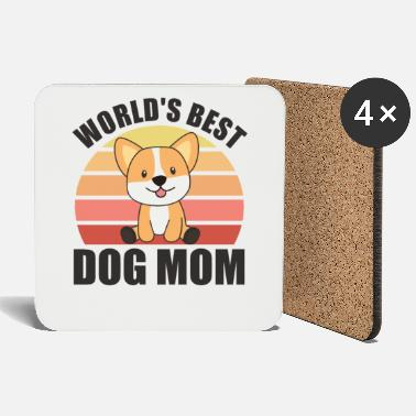 Corgi Worlds best dog mom - Hund Corgi sunset - Untersetzer