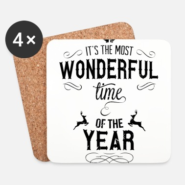 Snöflinga most_wonderful_time_of_the_year_b - Underlägg (4-pack)