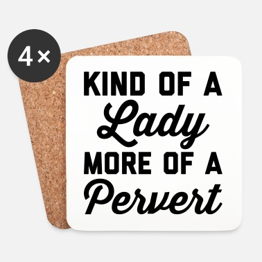 Rude Lady Pervert Funny Quote - Dessous de verre (lot de 4)