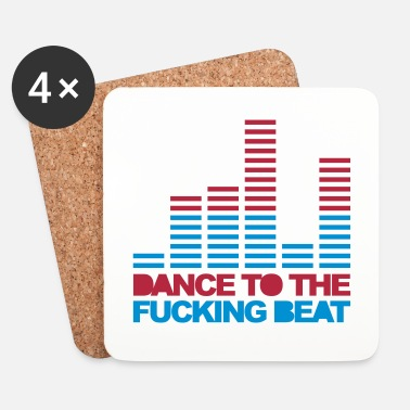 Trance Dance To The Beat 3 EDM Quote - Posavasos (juego de 4)