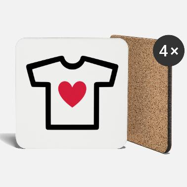 Shape Underwear ★ Design colors changeable ★ T-shirt with heart - Coasters