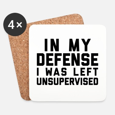Weird Left Unsupervised Funny Quote - Dessous de verre (lot de 4)
