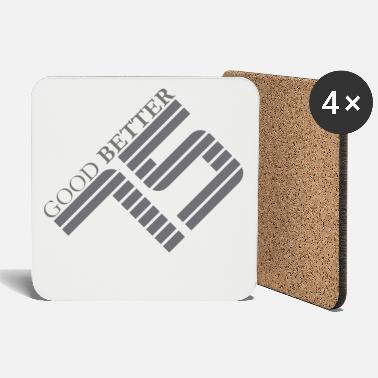45 Good better 75 - gray - Coasters
