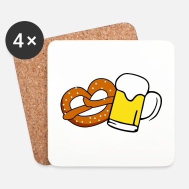 Dirndl Beer and Brezel - Lasinalustat (4 kpl:n setti)