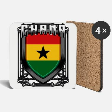 Accra Ghanaian Coat of Arms Republic of Ghana Accra Gift Idea - Coasters