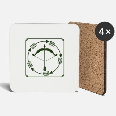 Bow Bow and arrow - bow and arrow - Coasters