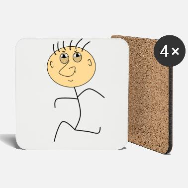 Cartoon Character Strichmann funny cartoon character - Coasters