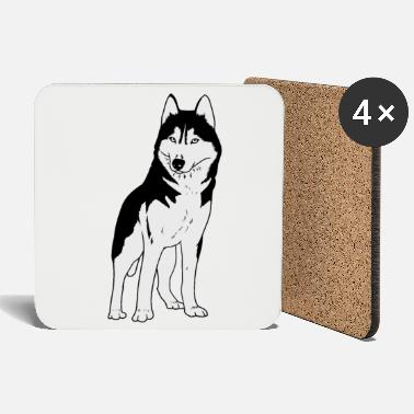 Dog Sports Husky dog dogs winter sports dog sport - Coasters