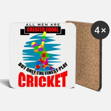 Moneygram Cricket all men are created equal but only the fin - Untersetzer