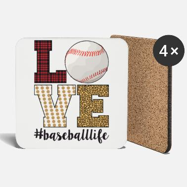 Baseball Mom Love Baseball Life Funny Sports Mom - Coasters