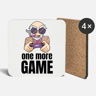 Old Man Gamer grandpa video man funny gift - Coasters