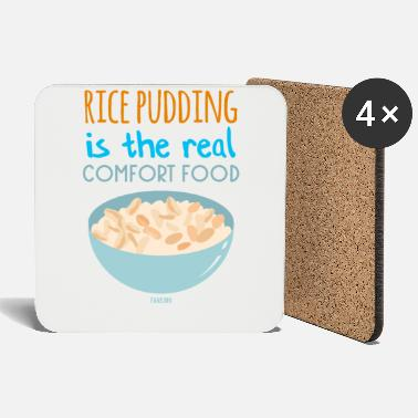Rice pudding vanilla cinnamon dessert - Coasters