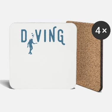 Deep Sea Diving Hobby Retro Diver Sport Life Vintage Cool - Coasters