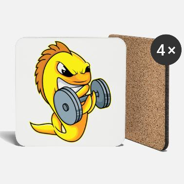 Strong Man Strong goldfish - design - Coasters