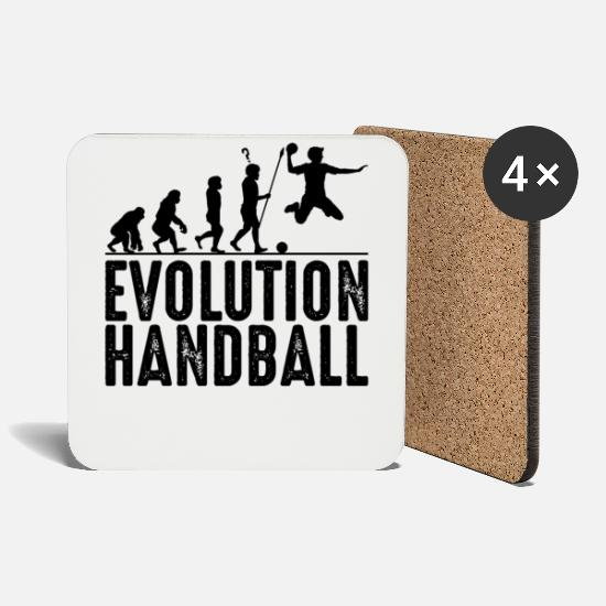 Handball Player Mugs & Drinkware - handball - Coasters white