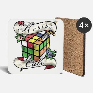 Rubik's Cube Tatoo - Coasters