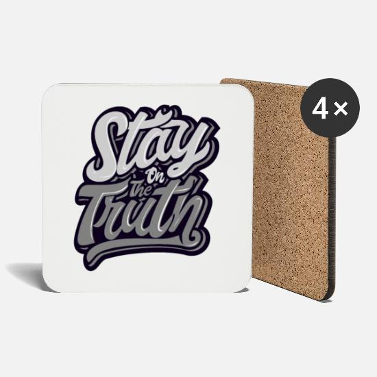 New Mugs & Drinkware - Stay the truth - Coasters white
