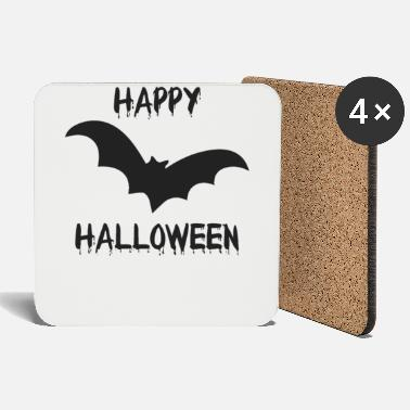 Monster Halloween bat vampire creepy funny - Coasters