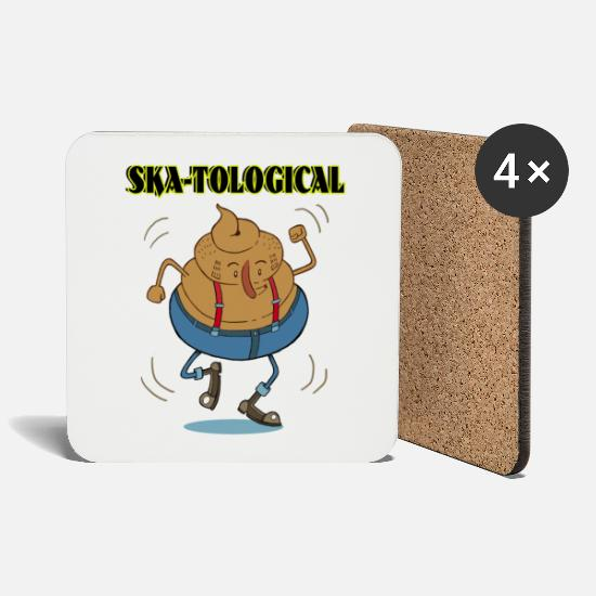 Dancing Mugs & Drinkware - skatological - Coasters white