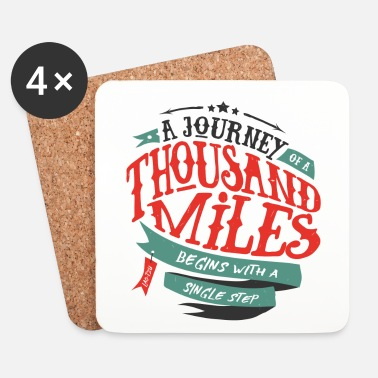 Single A journey of thousand miles - Dessous de verre (lot de 4)