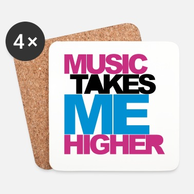 Dubstep Music Takes Me Higher 2 Rave Quote - Lasinalustat (4 kpl:n setti)
