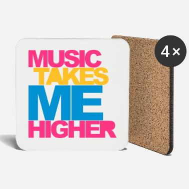 Dj Music Takes Me Higher 2 Rave Quote - Onderzetters