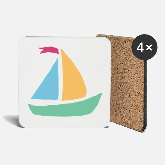 Birthday Mugs & Drinkware - boat gift boat shipboat gift boat ship - Coasters white
