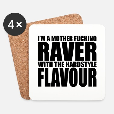 Diskjockey Mother F*cking Raver EDM Quote - Underlägg (4-pack)