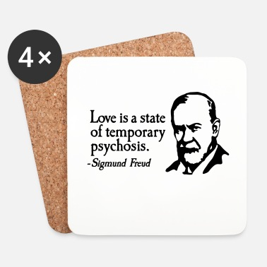 Sposarsi Love is just a temporary psychosis - Sigmund Freud - Sottobicchieri (set da 4 pezzi)