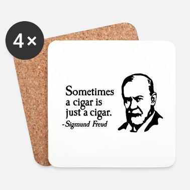 Fumeur Sometimes a cigar is just a cigar Sigmund Freud - Dessous de verre (lot de 4)