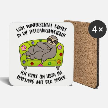 Fatigue Sloth Spring Spring fatigue Hibernation - Coasters