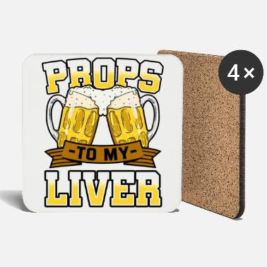 Prop Props To My Liver - Coasters