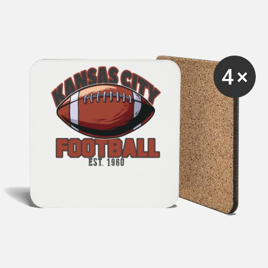 San Mugs & Drinkware - Football Kansas City - Coasters white